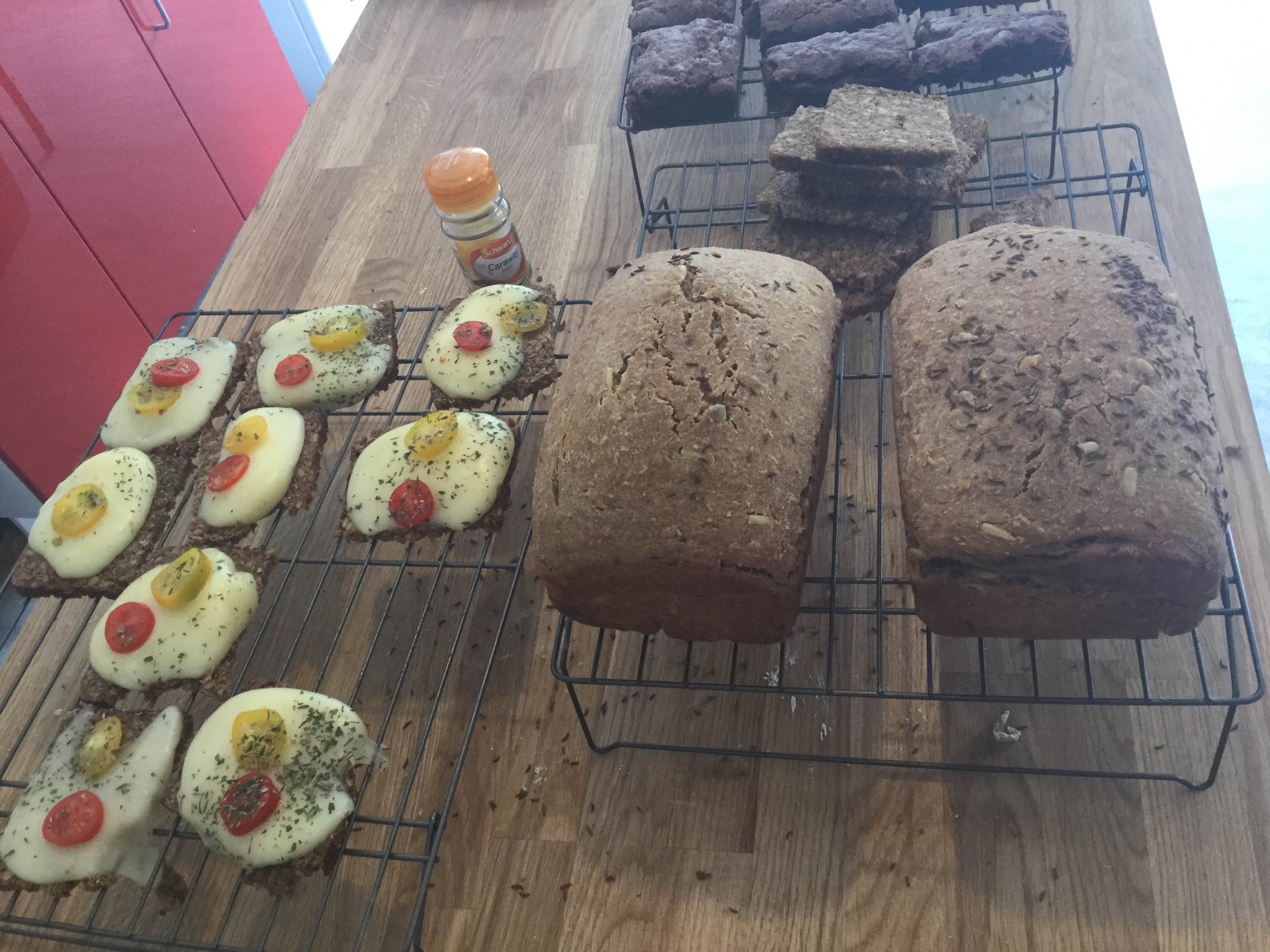 Photo of the loaves and treats made from the sour dough
